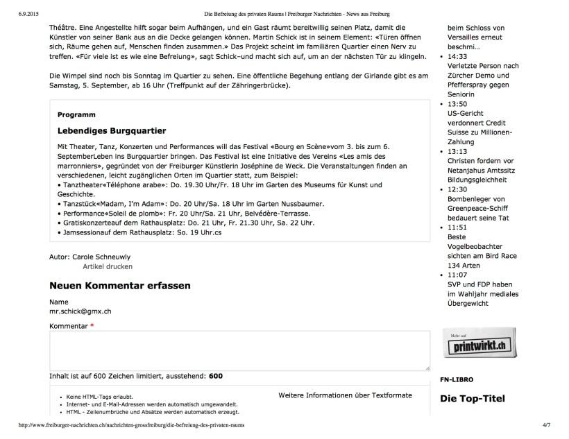 Die Befreiung des privat...ten - News aus Freiburg3